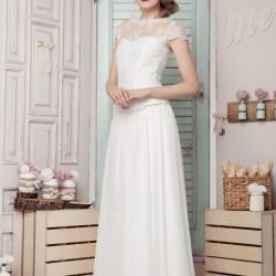 Vestuvinė suknelė su prailgintu liemeniu