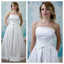 atlasine vestuvine suknele su kisenemis