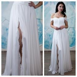 vestuvine suknele su nukritusiom petneselem , gipiuras