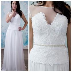 vestuvine suknele su v iskirpte, lengvu sijonu