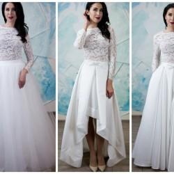 vestuvine suknele su keiciamais sijonais