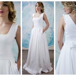 vestuvine suknele atvira nugara