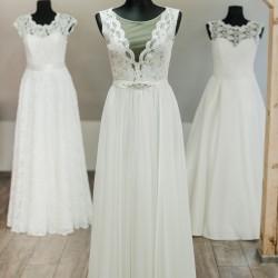 Šifoninė vestuvinė suknelė