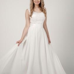 Šifoninė suknelė su nėrinukais