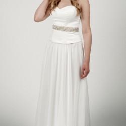 Vestuvinė suknelė su lengvu sijonu