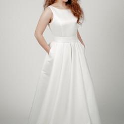Vestuvinė suknelė standžios medžiagos