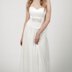 Vestuvinė suknelė su keičiamu sijonu