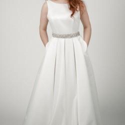 Vestuvinė suknelė su kišenėmis